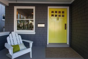 Cottage Front Door with exterior stone floors in Oakland CA