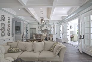 Traditional Great Room With French Doors Amp Crown Molding