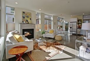 4 Tags Eclectic Living Room With Ghost Side Chair In Transparent Crystal,  Polished Concrete Floor · Bgreene0509 · Home Design Ideas