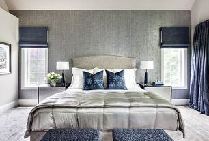 Contemporary Master Bedroom With Donna Karan Collection Silk Essentials  Pearl Insert/Comforter   King, Part 36