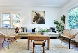4 Tags Eclectic Living Room With Natural Living Jute Bleach Area Rug,  Winter Stallion, Hardwood Floors Part 89