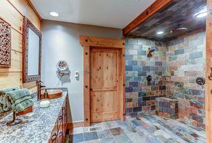 rustic bathroom slate floors design ideas & pictures