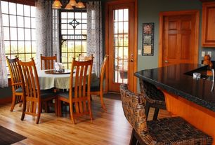 1 Tag Craftsman Dining Room With Hardwood Floors Pendant Light High Ceiling