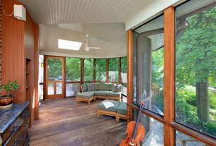 Traditional Porch With Screened Porch, Glass Panel Door