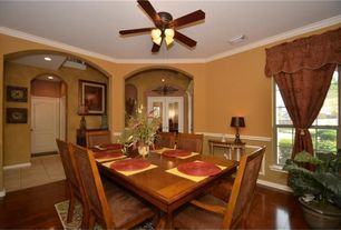 Mediterranean Dining Room Ceiling Fan | Zillow Digs | Zillow