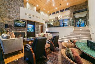 5 Tags Contemporary Great Room With ESN226 2   Cayden Sofa, Eldorado Stone  Stacked Stone,