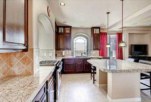 Contemporary Kitchen With Arcadia Classic Raised Panel, Giallo Verona  Granite