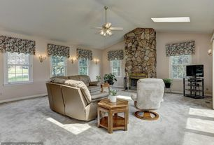 Living Room Stone Fireplace Cathedral Ceiling | Zillow Digs | Zillow