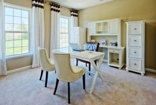 Home Office Designs big window near calm chair on wheel in home office design with wooden desk under cabinet Traditional Home Office With High Ceiling Homelegance Hanna 4 Drawer File Cabinet In White