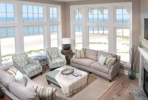 Traditional Living Room With Beach House Amp Stone Fireplace