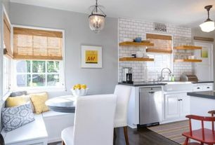 4 tags Traditional Kitchen with Breakfast bar, Subway Tile, Hardwood  floors, Breakfast nook, Eat
