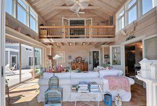 Cottage Living Room With Flush Light Terra Cotta 6 X Cuadradito