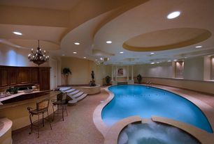 contemporary swimming pool with pool with hot tub pathway indoor pool
