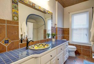 7 tags mediterranean full bathroom with alcora mexican tile 2 piece revere c panel rtf cabinet