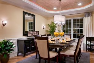 Traditional Dining Room With Wall Sconce, Crown Molding, Wainscoting,  Pendant Light, High Part 89