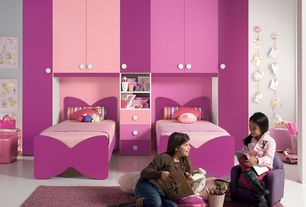 Contemporary Kids Bedroom With Concrete Tile, Custom Fabricated Bedroom  Furniture, Built In Bookshelf