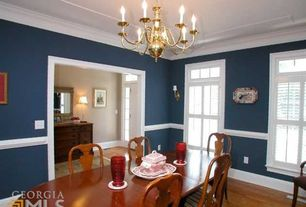3 Tags Traditional Dining Room With Hardwood Floors Chandelier Chair Rail Crown Molding Americana