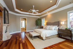 traditional master bedroom with 52 casa vieja paseo white ceiling fan - Master Bedroom Design Ideas