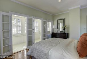 Traditional Master Bedroom With Crown Molding Amp French