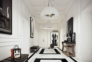 4 Tags Modern Hallway With Super Thassos Glass 12 In X Polished Marble Floor