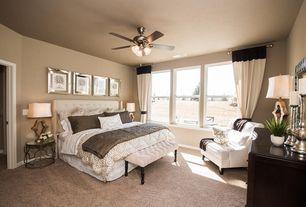 art deco master bedroom with 60 casa equinox teakbronze ceiling fan with light