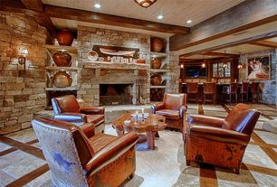 rustic blue basement design ideas & pictures | zillow digs | zillow