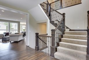 1 Tag Traditional Staircase With Hardwood Floors, High Ceiling ·  User4596341 · Home Design Ideas