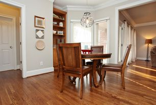 1 Tag Traditional Dining Room With Hardwood Floors Built In Bookshelf High Ceiling Pendant