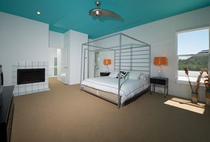 modern master bedroom with enigma ceiling fan room board portica bed - Modern Bad Room