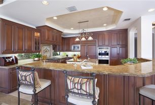 4 tags Traditional Kitchen with Stone Tile, Limestone Tile, limestone tile  floors, Glass panel,
