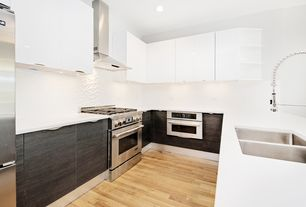 modern kitchen with olympia collection butterscotch oak 5 hardwood floors high ceiling - Luxury White Kitchens