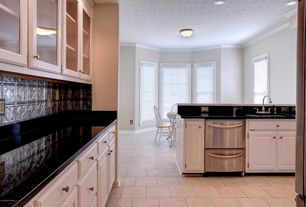 5 Tags Traditional Kitchen With American Tin Tiles, Slate, Limestone Tile  Floors, Slate Counters,