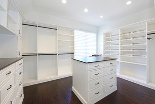 5 Tags Traditional Closet With High Ceiling, Hardwood Floors, Built In  Bookshelf, Custom Wood