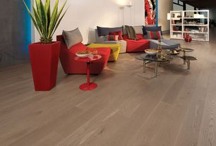 Modern Living Room With Hardwood Floors High Ceiling Hickory