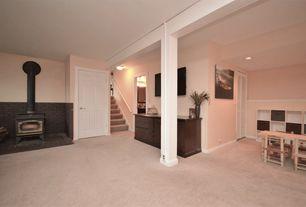 traditional basement with 30 in x 80 in louver pine white interior closet bi - Basement Interior Design