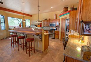 6 tags southwestern kitchen with exposed beam slate tile pendant light complex granite counters - Southwestern Design Ideas