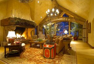 Rustic Yellow Living Room Design Ideas & Pictures | Zillow Digs ...