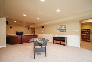 budget basement design ideas with wainscoting