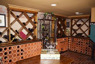 Beau 5 Tags Mediterranean Wine Cellar With Designer Series 132 Bottle Half  Height Diamond Bin Wine Rack