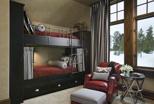 Contemporary kids bedroom with custom built in bunk beds for Zimmergestaltung app