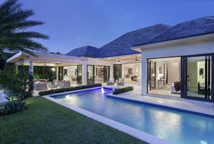 Contemporary Swimming Pool With Gazebo Amp Lap Pool In Boca