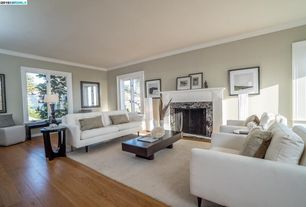 Exceptionnel 6 Tags Transitional Living Room With Stevie Black Finish Hidden Storage  Coffee Table, Carpet, Crown Molding