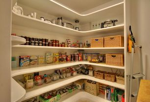 2 Tags Traditional Pantry With High Ceiling, Built In Bookshelf, Natural  Mitzy Baskets. 8jgill · Home Design Ideas