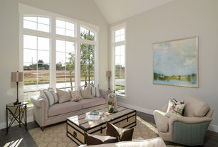 2 Tags Traditional Living Room With High Ceiling, Hardwood Floors, Pella  Architect Series Casement Window With Part 97