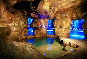 Inside Pool Cave rustic brown swimming pool design ideas & pictures | zillow digs