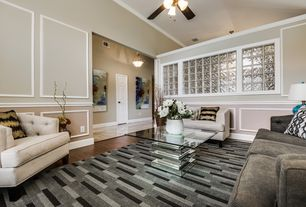 3 Tags Transitional Living Room With Crown Molding Ceiling Fan Carpet High Hardwood