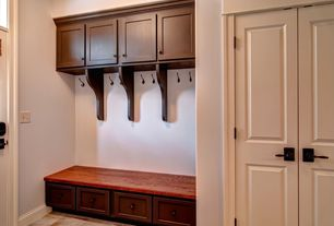 Traditional Mud Room with Crown molding & Built-in bookshelf in ...