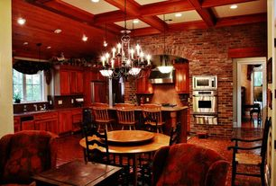 Country Kitchen With Simple Granite Counters Breakfast Nook Raised Panel Box Ceiling