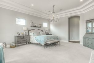 gray master bedroom pictures. 4 tags traditional master bedroom with chandelier, built-in bookshelf, louis tufted bench, carpet gray pictures