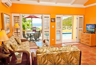 Tropical Orange Living Rooms 4 Tags Tropical Living Room With Turks Bay Full Frame Rattan And Wicker Loveseat By Hospitality Rattan